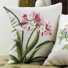 Starflower Pillow Cover Stamped Embroidery Kit