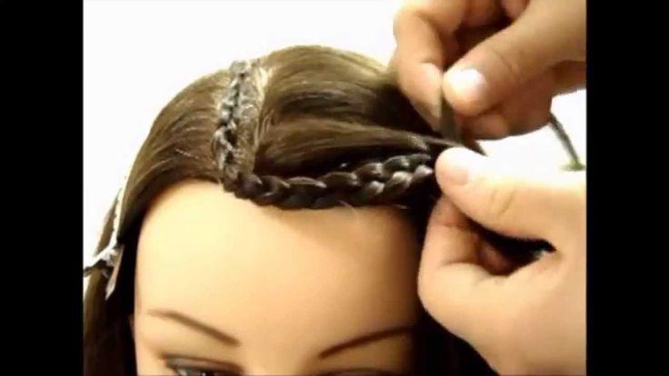 peinado con trenzas en S