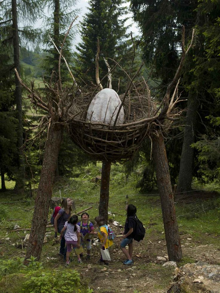 Dragon Nest - the work of land art by Marco Nones in the Forest of the Dragons of the Latemar (Predazzo.Gardoné)