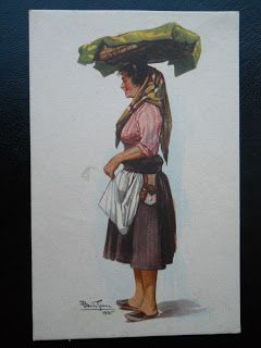 Stamps, covers and postcards of traditional/folk costumes: Postcards / Costumes - Portugal / Portugalija