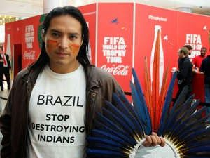 Brazil: The dark side of Brazil: Amazon Indian protests at World Cup trophy tour