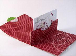 Gift card holder, photo tutorial available on the blog:  http://www.kristycoromandel.com/pop-up-gift-card-holder/