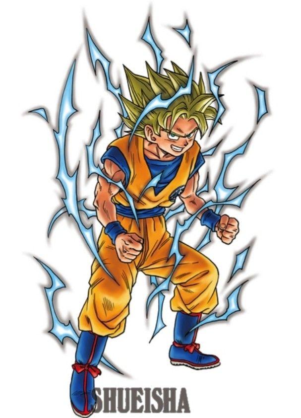 Akira Toriyama Artwork Goku Super Saiyan Dragon Ball Artwork Dragon Ball Art Dragon Ball Super Art