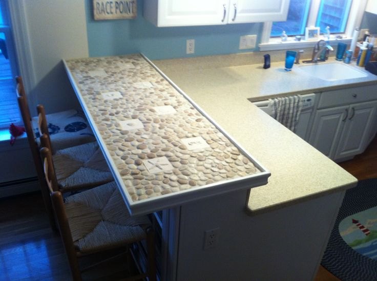 17 best images about clever ideas on pinterest mosaics for Mosaic tile bar top