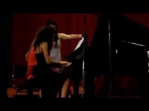 Johannes Brahms: Hungarian Dance No. 5 in G Minor, Allegro - Piano duet