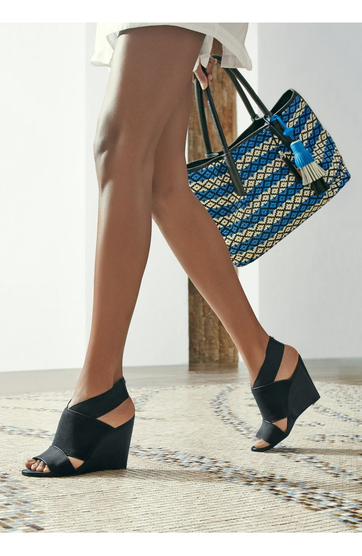 Love that these sleek Vince Camuto sandals feature an elasticized ankle  cuff ensuring the perfect fit