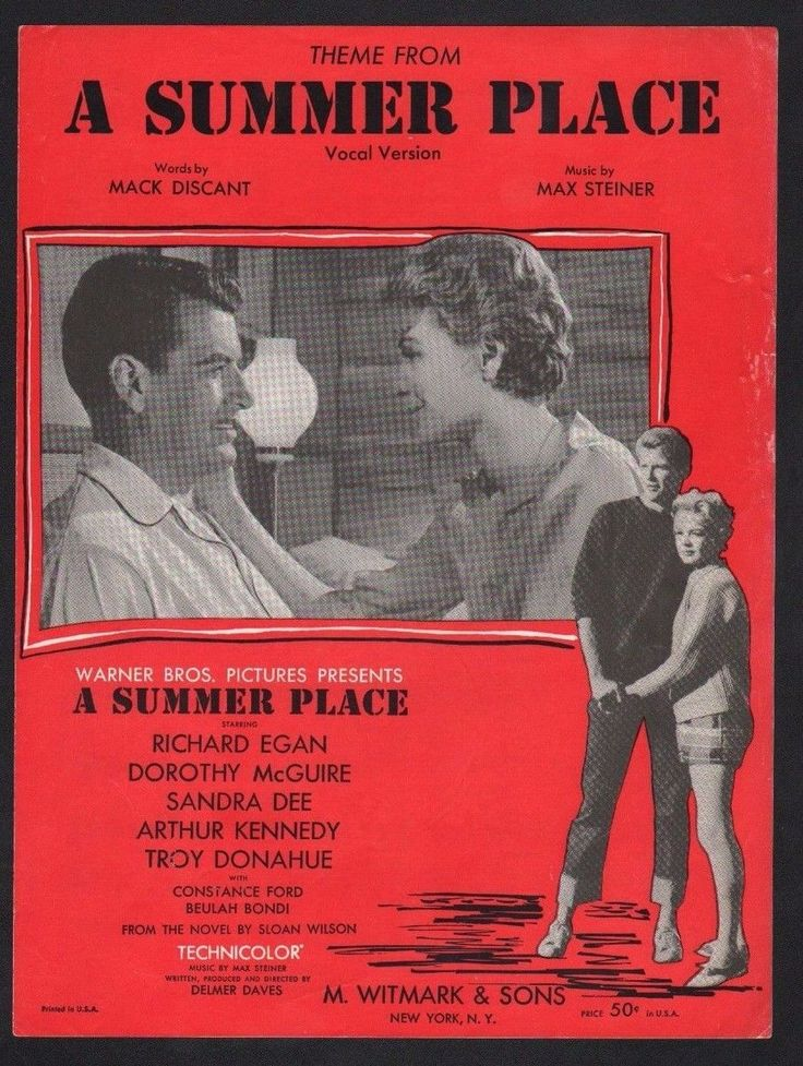 A Summer Place 1960 Sandra Dee Troy Donahue Sheet Music | eBay