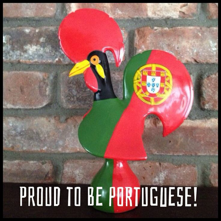 One of our fans shared their Rooster with us yesterday. Love this one! Thank you Mario Goncalves!  Portuguese Pride, Galo de Barcelos, Portuguese Rooster, Proud to be Portuguese, cock de barcelos, Portuguese Flag, portugal
