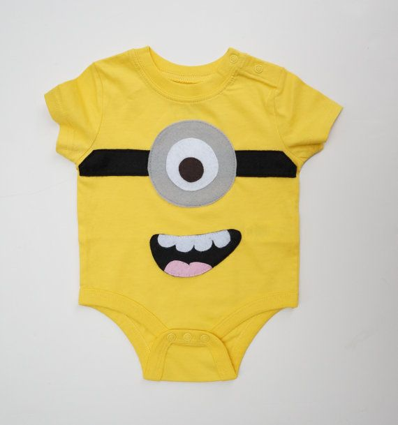 Minion onesie, 3-6 months yellow, gender neutral baby gifts