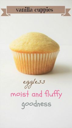 eggless vanilla cupcakes. Just tried this, its yummy. Next time I use 1/2 cup of sugar and bake for 25 mts for a regular sized cupcake.