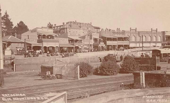 Katoomba in the Blue Mountains region of New South Wales (year unknown).