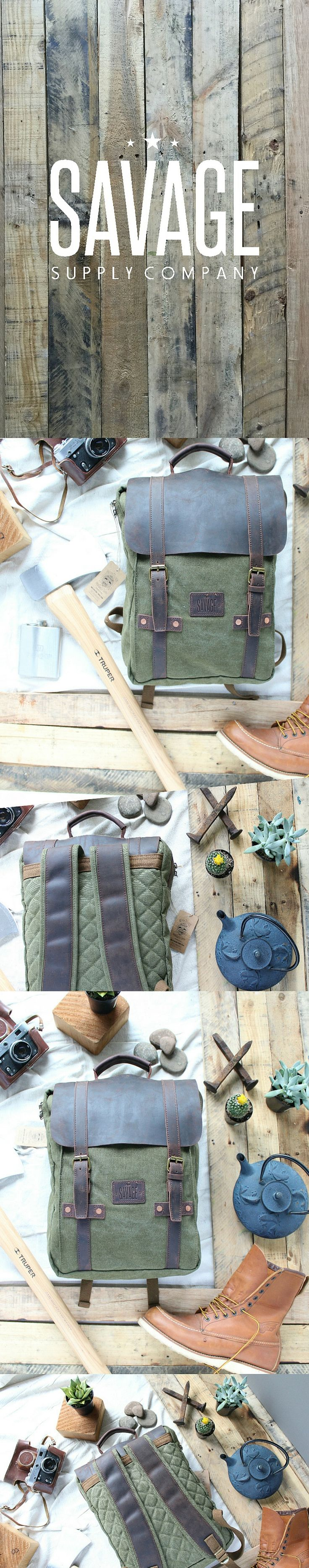 Rugged yet comfortable canvas backpack - By Savage Supply Co.