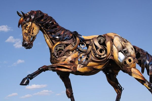 John Lopez Artist Welds Old Farming Equipment Together To Create - Artist creates incredible sculptures welding together old farming equipment