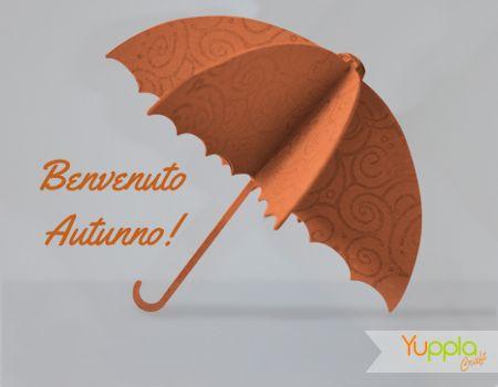 Benvenuto Autunno! Ombrellino realizzato in cartoncino. #autunno #craftidea #crafting #yupplacraft #scrapbooking #decorazioni