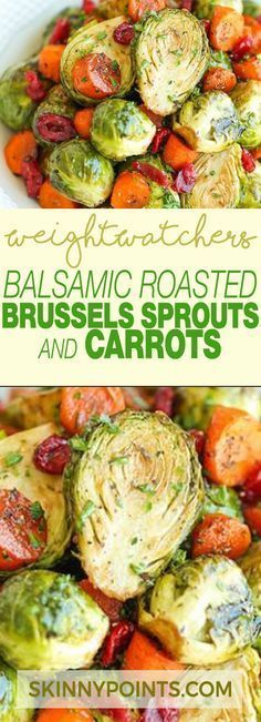 Balsamic Roasted Brussels Sprouts & Carrots With Only 5 Weight watchers Smart Po…   – BargainsRus Healthy USA and Canadian Recipes Pins