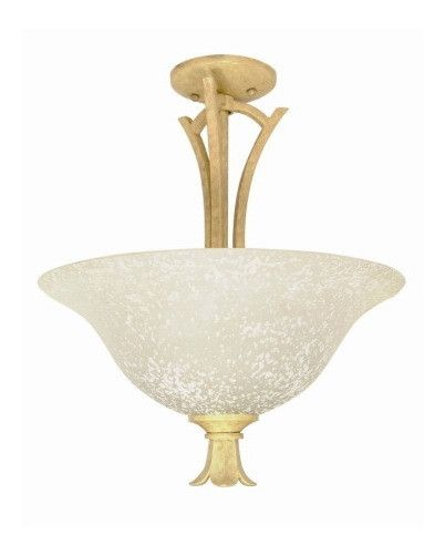 Nuvo Lighting 60 118 Tropica Collection 2 Light Semi Flush Ceiling Fixture In Aged Beige Finish