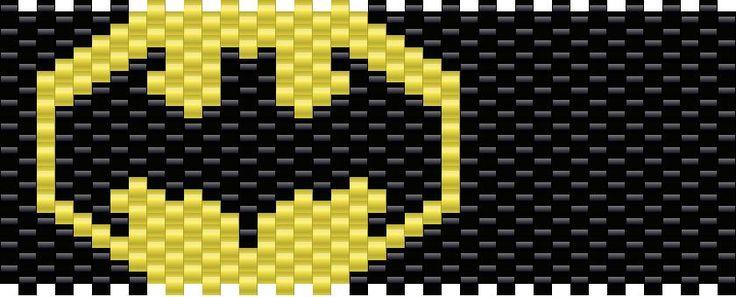 Batman Kandi Pattern Pony Bead Patterns Pinterest