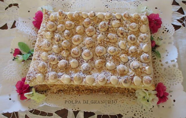 Polpa di granchio: Millefoglie con crema chantilly alla nocciola