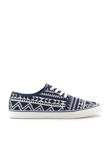 Bershka Japan - Ethnic canvas sneakers