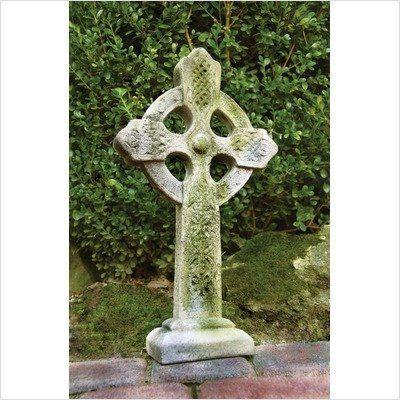 Fiberstone Celtic Cross Garden Statue by Orlandi, http://www.amazon.com/dp/B004VJEEM6/ref=cm_sw_r_pi_dp_ZhYbsb0Y0ST0W