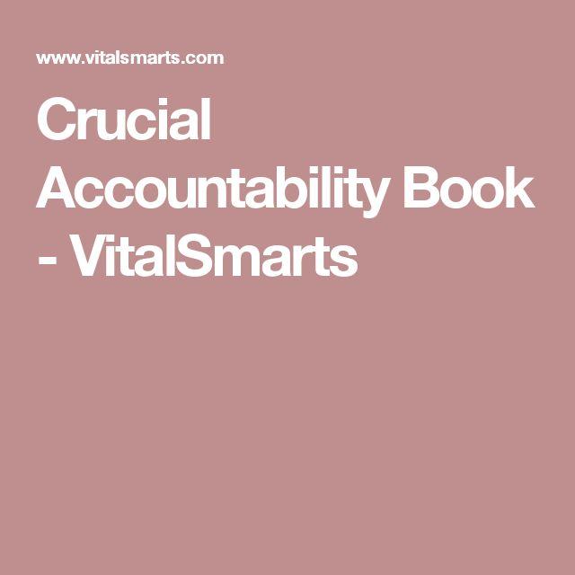 Crucial Accountability Book - VitalSmarts