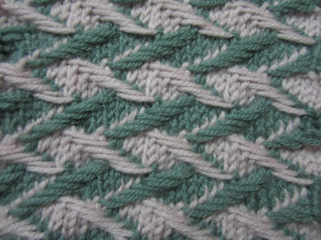 2 Color Slip Stitch Knitting Patterns : Two Color Slip Stitch by Bich Lan Knit Blocks ...