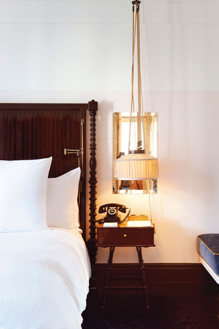 Chiltern Firehouse - the pillows in the bedrooms are custom-made, the Italian sheets are bespoke