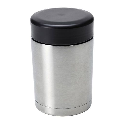 IKEA - EFTERFRÅGAD, Vacuum food container, The wide mouth makes it easy to fill and eat from.Can be used both for beverages and food.The insert is made of metal and is impact resistant.You can lower your food waste by saving your leftovers in this food vacuum flask. It keeps the food warm, is easy to eat from and take with you.