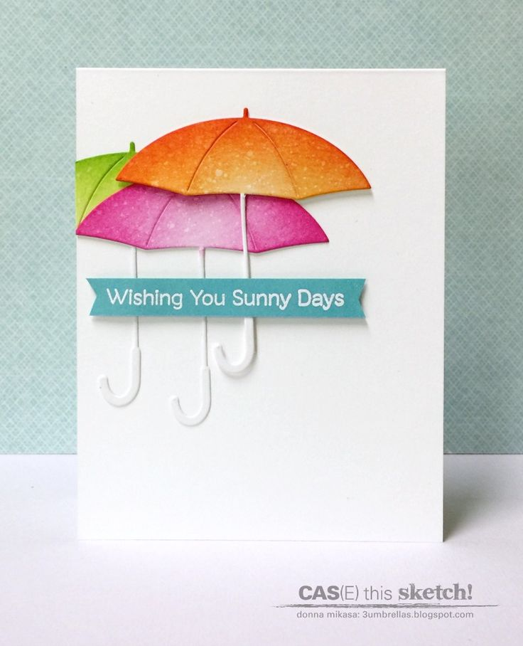 Fun Umbrella Card Desing Wishing You Sunny