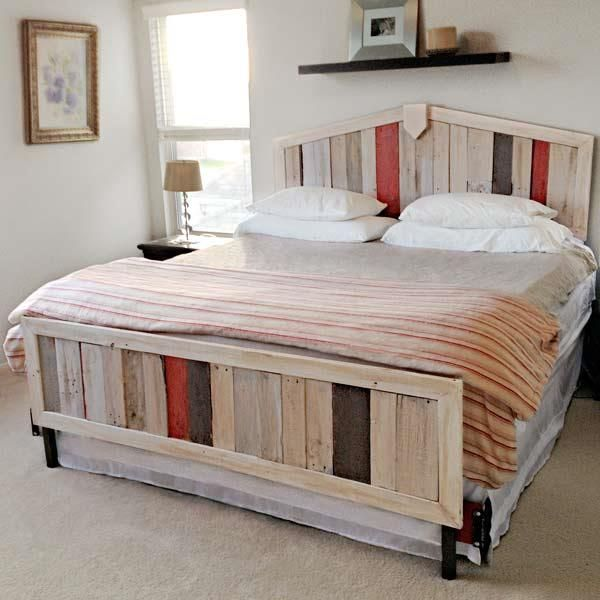 Pallet Bedroom Furniture 170 best pallet beds images on pinterest | diy pallet bed, pallet