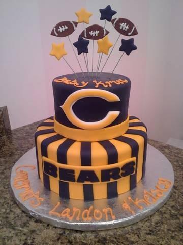 Chicago Bears Football Cake