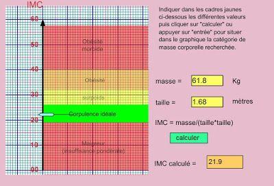 Smicky Le Secret du Poids gourmand: Calcul de l'IMC : un site très visuel vraiment sym...