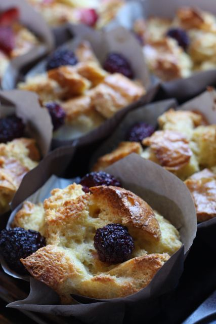 french toast cups blackberries