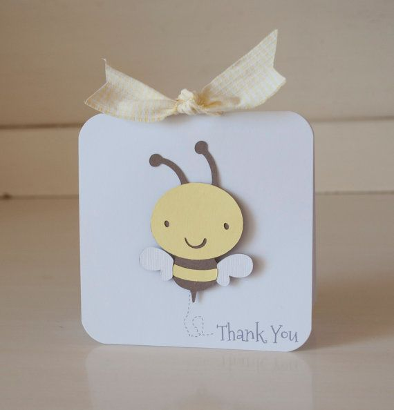 Bumblebee Bee Thank You Cards Invitations Baby by CardinalBoutique, $74.00