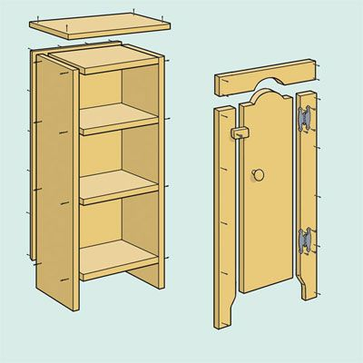 Illustration Gregory Nemec   thisoldhouse.com   from How to Build a Jelly Cupboard