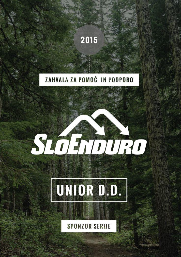 Award/Recognition for sponsors of Slovenian mountain bike enduro series SloEnduro #award #recognition #design #graphicdesign