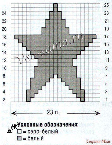 Шапочка-бини теневым узором «звезды» (Вязание спицами) | Журнал Вдохновение Рукодельницы