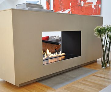 A fire ribbon - electric fireplace