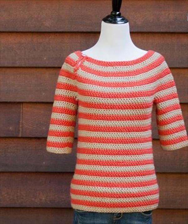 2ce3445fb644 Crochet Top Down Women Sweater