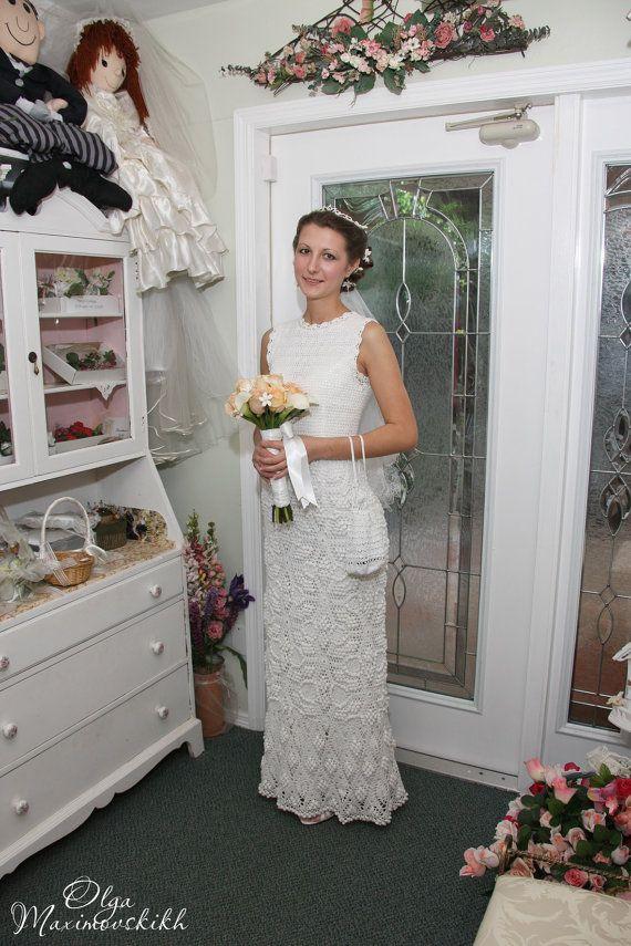 647 best crochet white dresses - long images on Pinterest | Wedding ...