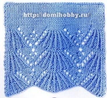 Knitting patterns openwork border