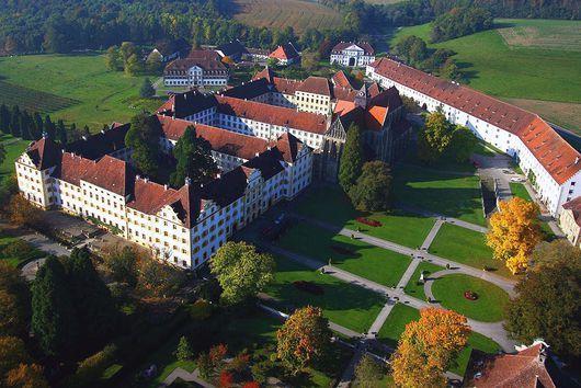 Luftansicht Kloster und Schloss Salem