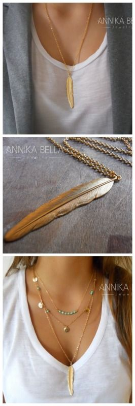 This trendy, mega chic, necklace is PERFECT for layering besides being beautiful on its own