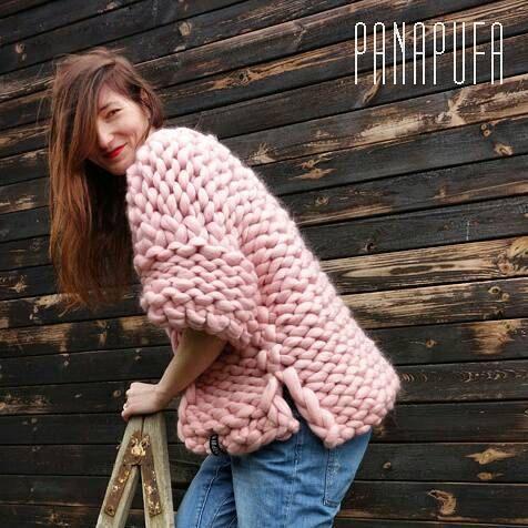 Chunky Knit Sweater chunky yarn cardigan Super Chunky by PANAPUFA