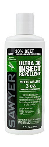Camping Insect Repellent - Sawyer Products Premium Ultra 30 DEET Insect Repellent in Liposome Base Lotion -- Details can be found by clicking on the image.