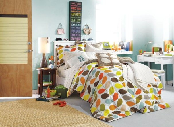 Dorm decor for the class of 2016 -  This Orla Kiely comforter set is from Bed Bath & Beyond The Washington Post Photo gallery and story:  http://wapo.st/10RwS