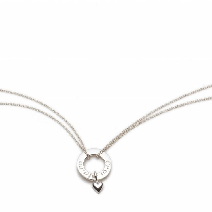"This collection focuses on simplicity and style - contemporary, classic and inspired by the simplest of shapes - the circle. 'Croí Álainn' meaning a beautiful heart is engraved so subtly on both sides of the circ, while the adorable heart adds an element of prettiness. Sterling Silver. Length: 22mm. Chain: 42-45cm /16""-18"" length (adjustable extension chain)   Available Here: http://www.standun.com/enibas-croi-alainn-mini-heart-pendant.html"