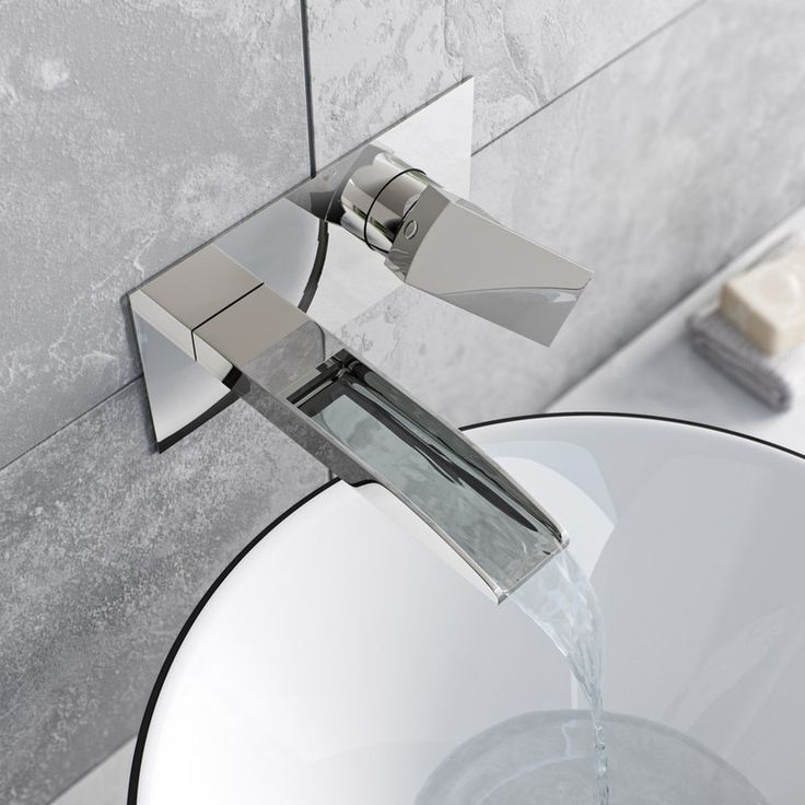 Mode Cooper wall mounted waterfall basin mixer tap | VictoriaPlum.com