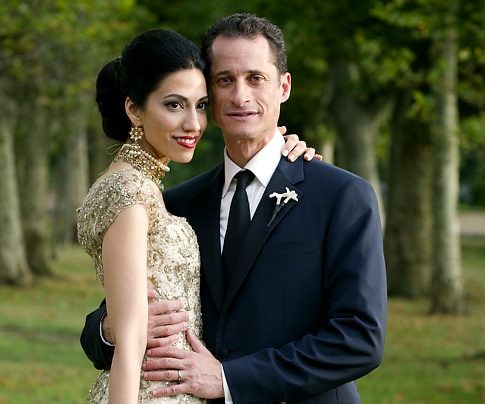 pants of wine tresure Anthony Weiner Huma Abedin Wedding cathren