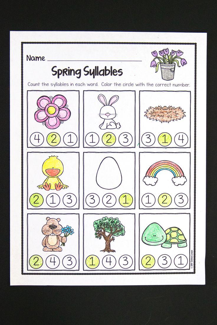 292 best the super teacher tpt images on pinterest preschool spring phonological awareness worksheets no prep beginning soundssyllablethe robcynllc Images